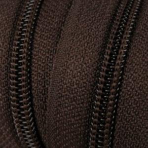 Reissverschluss 5 mm dunkelbraun