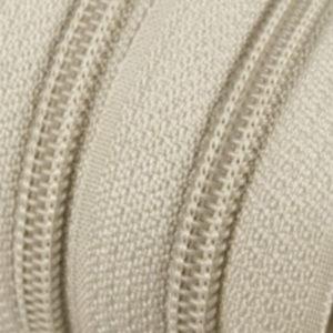 Reissverschluss 5 mm hellbeige