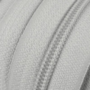 Reissverschluss 5 mm hellgrau