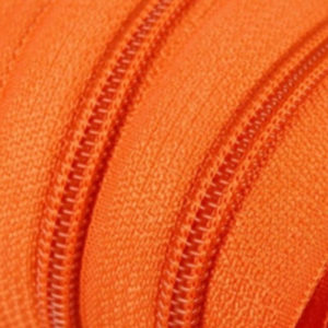 Reissverschluss 5 mm orange