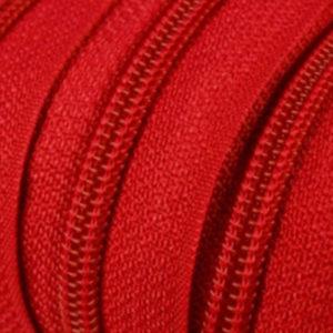 Reissverschluss 5 mm rot