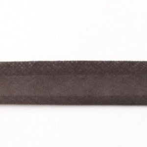 Baumwollschrägband uni anthrazit grau