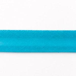 Baumwollschrägband uni aqua