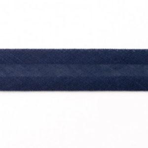 Baumwollschrägband uni dunkelblau