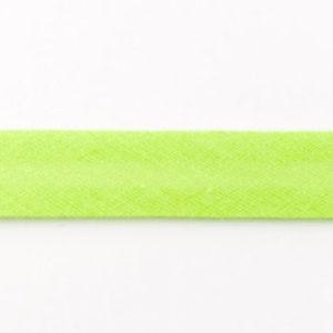 Baumwollschrägband uni lime / hellgrün