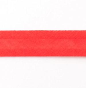 Baumwollschrägband uni rot