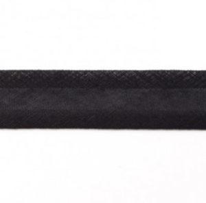 Baumwollschrägband uni schwarz