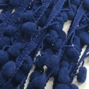 Bommelborte - dunkelblau