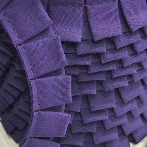 Faltenband lila