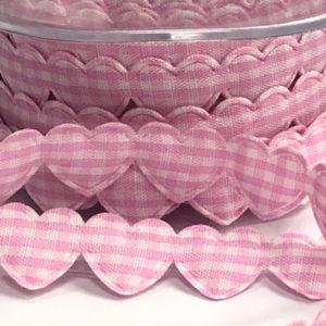 Herzchen Borte - rosa