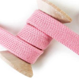 Flachkordel rosa - Hamburger Liebe 100% Biobaumwolle