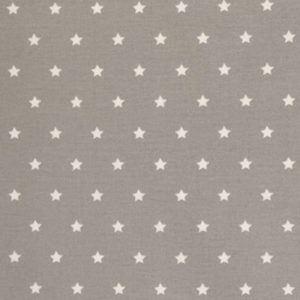 beschichtete Baumwolle - grau / weiss Sterne matt