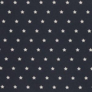 beschichtete Baumwolle - dunkelblau / weiss Sterne matt
