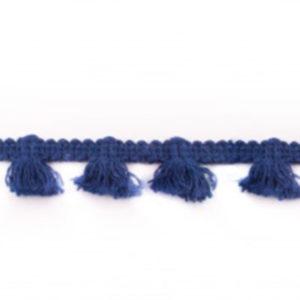 Quastenborte Mini - dunkelblau