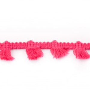Quastenborte Mini - pink