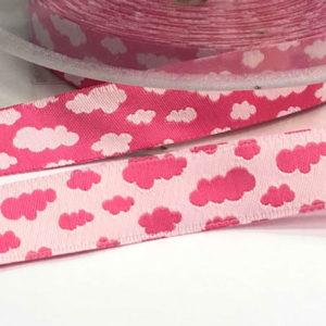 Webband Wolken pink