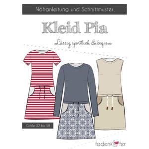 Papierschnittmuster Kleid Pia Damen Gr 32-58 - Fadenkäfer