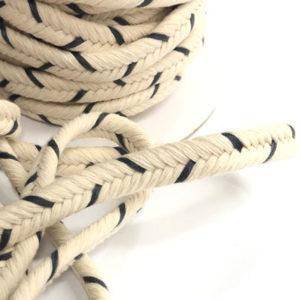 Baumwolldoppelkordel natur/ grau