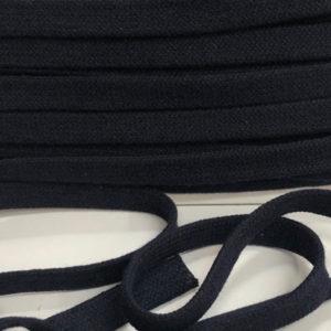 Baumwollflachkordel dunkelblau 17mm
