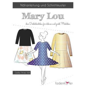 Papierschnittmuster Kleid Mary Lou Gr 74 - 164 - Fadenkäfer