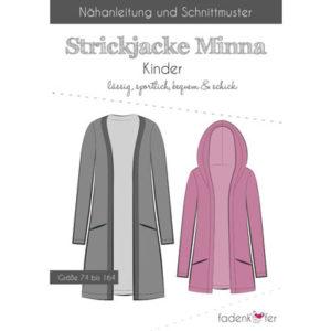 Papierschnittmuster Strickjacke Minna Kinder Gr 74 - 164 - Fadenkäfer