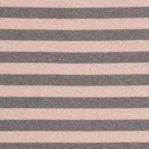Strick Viscose Lenn rosa/ grau gestreift