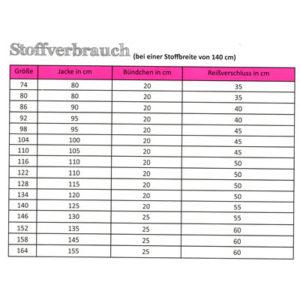 Papierschnittmuster Sweatjacke Gr 74 - 164 - Fadenkäfer