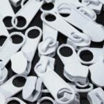 Schieber für 5 mm Reissverschluss - weiss