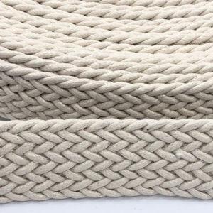 Gurtband 30 mm - geflochten - natur