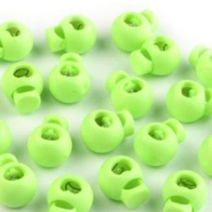 Kordelstopper rund - hellgrün