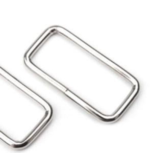 Trägerschnalle / Schlaufe - 30 mm / 40 mm - nickel