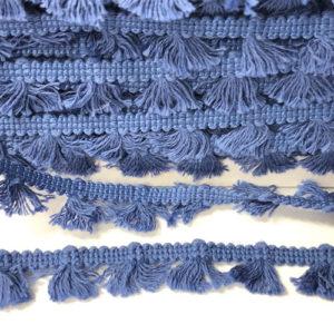 Quastenborte Mini - jeansblau
