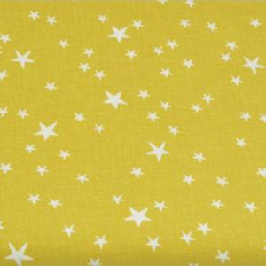 Baumwolle - Sterne senf