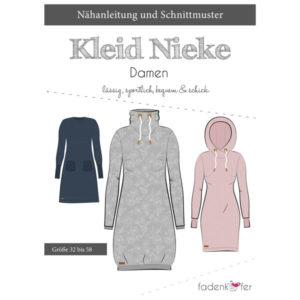 Papierschnittmuster Kleid Nieke Gr 32 - 58 - Fadenkäfer