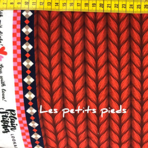 Plain Stitches - Biosweat - Hamburger Liebe - rot