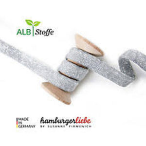 Flachkordel silber Hamburger Liebe