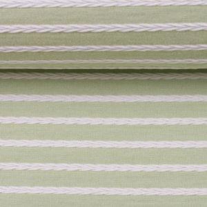 "Strukturjersey ""Birte"" mint querverlaufendem Zopfmuster - mint pistazie"
