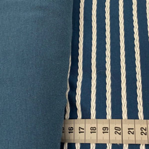 """Strukturjersey """"Birte"""" mit querverlaufendem Zopfmuster - blau"""