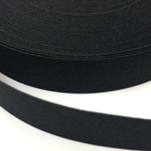 Gummiband 25 mm - schwarz