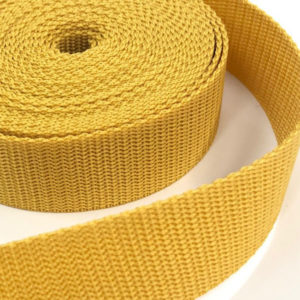 Gurtband 30 mm - senf