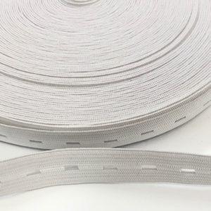 Lochgummiband 15 mm - weiss