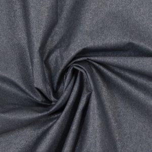 beschichtete Baumwolle - metallic - rauchblau