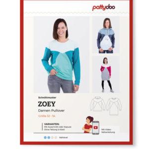 """Papierschnittmuster Pulli """"Zoey"""" Damen Gr 32-54 - Pattydoo"""