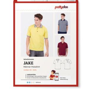 """Papierschnittmuster Poloshirt """"Jake"""" Herren Gr XS-XXXL - Pattydoo"""