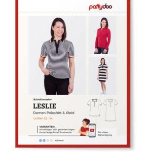 """Papierschnittmuster Poloshirt & Kleid """"Leslie"""" Damen Gr 32-54 - Pattydoo"""