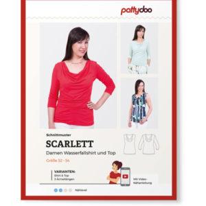 """Papierschnittmuster Wasserfallshirt """"Scarlett"""" Damen Gr 32-54 - Pattydoo"""