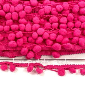 Bommelborte - pink