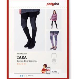 """Papierschnittmuster Biker Leggings """"Tara"""" Damen Gr 32-54 - Pattydoo"""