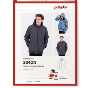 "Papierschnittmuster Softshelljacke ""Simon"" Herren Gr XS-XXXL - Pattydoo"