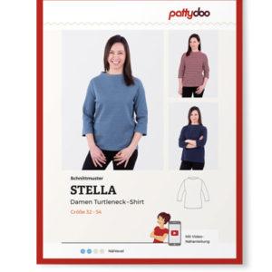 """Papierschnittmuster Turtleneckshirt """"Stella"""" Damen Gr 32-54 - Pattydoo"""